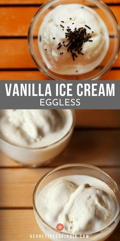 vanilla ice cream recipe with step by step photos - creamy, soft and delicious eggless vanilla ice cream recipe. no ice cream maker is used. White Fish Recipes, Easy Fish Recipes, Chicken Recipes, Eggless Vanilla Ice Cream Recipe, Ice Cream Recipes, Veg Recipes Of India, Sicilian Recipes, Sicilian Food, Eggless Desserts