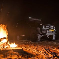 Arabian Nights.  @gfwilliams and @adharamsey took the Mercedes-AMG G 63 6x6 out for a stunning ride through the desert of Oman.  #MercedesAMG #AMG #G63 #G636x6 #Night #Fire #Cars #Auto by mercedesamg