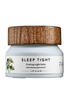 Farmacy Sleep Tight Firming Night Balm // Beauty editors love this Pharmacy night balm for its blend of natural ingredients that are perfect for sensitive skin. Ingredients like echinacea help to promote collagen production, while natural oils help to hydrate and soften skin.