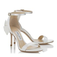 Kerry 85 Sandals in Ivory Satin. Discover our Cruise 17 Collection and shop the latest trends today. Jimmy Choo, Bridal Flats, Wedding Shoes, High Heel Boots, Heeled Boots, Baskets, Shoes Sneakers, Shoes Heels, Designer Heels