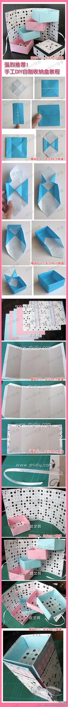 boite papier, diy, rangement, bijoux