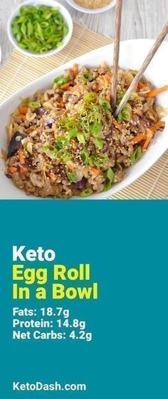 Trying this Egg Roll In a Bowl and it is delicious. What a great keto recipe. #keto #ketorecipes #lowcarb #lowcarbrecipes #healthyeating #healthyrecipes #diabeticfriendly #lowcarbdiet #ketodiet #ketogenicdiet