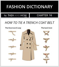 How to tie a trench coat belt - fashion dictionary