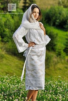5e8f59e1c50226 Romanian folk costume - hand embroidered traditional costume from Muscel  area  Romania  RomanianBlouse