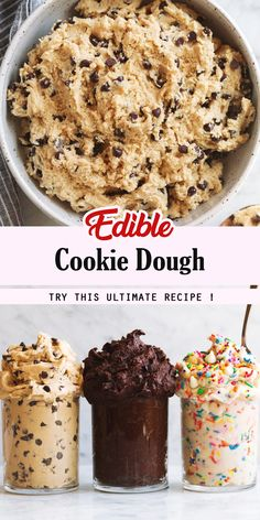 88 clean eating healthy sweet snacks under 100 calories - Clean Eating Snacks Edible Cookies, Edible Cookie Dough, Cookie Dough Recipes, Chocolate Chip Cookie Dough, Healthy Cookie Dough, Cookie Dough For One, Cookie Dough Dip, Chocolate Tarts, Desserts To Make