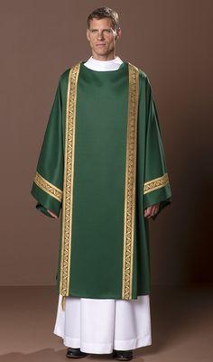 d414158189d Spencer Dalmatic  green liturgical vestment for priest or deacon