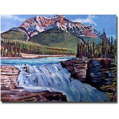 Trademark Art Thundering River Canvas Wall Art by David Lloyd Glover, Size: 35 x 47, Multicolor