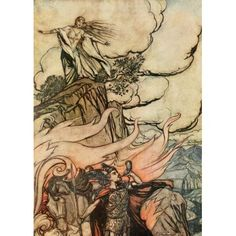 Siegfried 1924 Siegfried leaves Br???nnhilde Canvas Art - A Rackham (18 x 24)