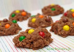 sixlets no bake cookies-minus the coconut maybe