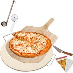 Kitchen Gems Home Pizza Baking Supplies Set  Includes Pizza Stone and Pizza Slicer with Other Essential Pizza Baking Utensils >>> This is an Amazon Affiliate link. You can get more details by clicking on the image.