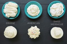 A Tale of Three Frostings: Vanilla Edition: Recipes for three of my favorite vanilla frostings: Ermine, American Buttercream, and Swiss Meringue Buttercream Recipes: American Buttercream  Swiss Meringue Buttercream   Ermine (Boiled Milk) Icing When I was 13, the top spot on my Christmas list belonged to one item only: the 'Martha by Mail' Cake Decorating Kit.  I'd seen an advertisement for it in one of my mother's issues of Living and instantly had stars in my eyes. Fifty-two pieces of cake…