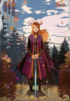 Frozen - Anna- Disney Princess ArtYou can find Disney princess art and more on our website. Anna Disney, Disney Pixar, Disney Princess Art, Disney Fan Art, Cute Disney, Disney And Dreamworks, Disney Cartoons, Disney Magic, Disney Frozen