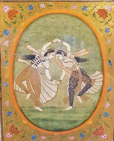 Kathak Dancers. India, Kangra, ca. 1790, Indian Museum