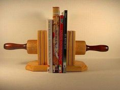 Rolling pin bookends