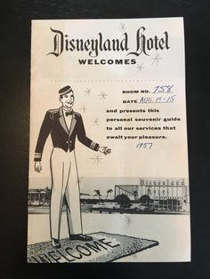 Disneyland Hotel Check in Brochure Map, Amenities and Accommodations 1957 by VintageDisneyana on Etsy