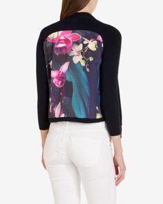 Fuchsia Floral wrap - Dark Blue | Knitwear | Ted Baker UK