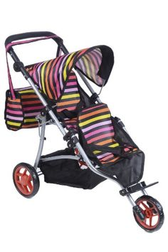 Twin Jogger DOLL Stroller with Diaper Bag Exquisite Buggy