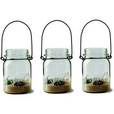 7-piece Mason Jar & Sand Tealight Candleholder Set (White) (1,670 INR) ❤ liked on Polyvore featuring home, home decor, candles & candleholders, fillers, white, white tea lights, white candles, colored tea lights, white tea candle and colored candles