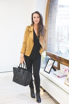 jacket H&M blouse BANANA REPUBLIC jeans H&M shoes AF KLINGBERG bag CÉLINE | Hanna Väyrynen