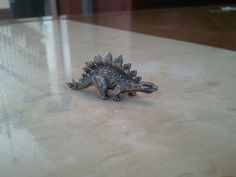 Vintage Stegosaurus Dinosaur Pewter Figurine
