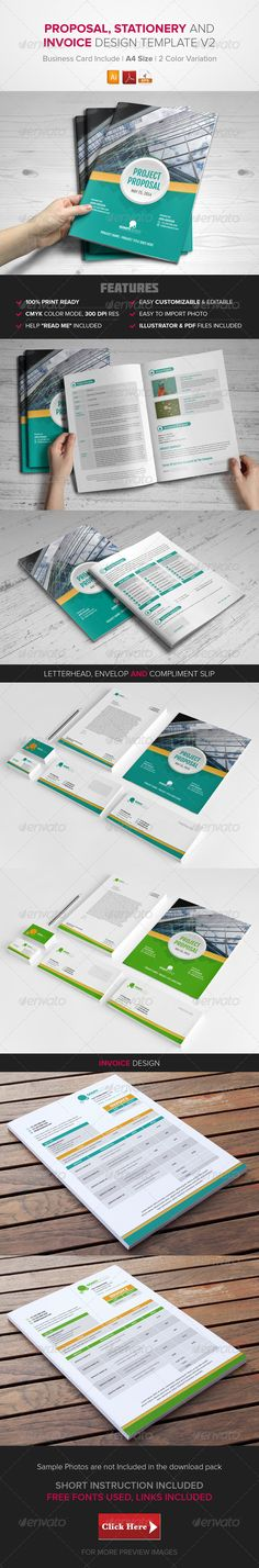 Proposal, Stationary & Invoice Design Template v2