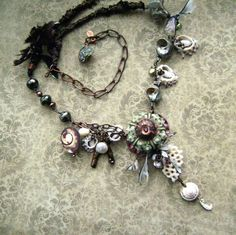 RESERVED Mermaids Delight, handmade necklace, assemblage jewelry, keishi, coin pearls, pearl jewelry, seashells, sea urchin, anvilartifacts