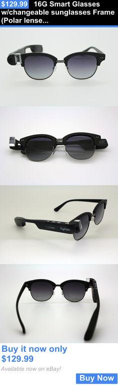 Smart Glasses: 16G Smart Glasses W/Changeable Sunglasses Frame (Polar Lense) 1080P Video Camera BUY IT NOW ONLY: $129.99