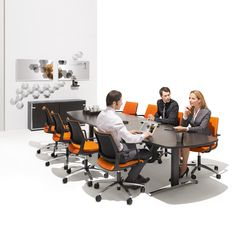 Attention T Conference Table was designed by Andreas Struppler, with the idea of bringing the health benefits of height adjustable desks to the conference scene.