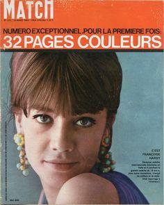 Françoise Hardy en couverture de Paris Match n°729 de 1963, photo de Willy Rizzo
