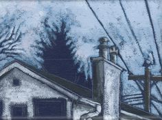 """Suzo Hickey""""Grey House and Light Blue Sky"""""""