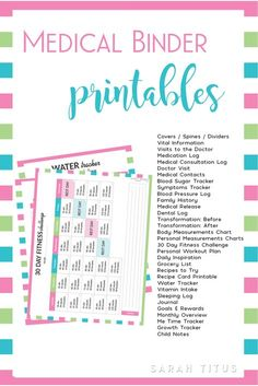 This Medical Binder has EVERYTHING you need with over 40 pages, from medical information, weight loss tracker, personal workout plan, fitness challenge, daily inspiration, family health history, and much, much more!