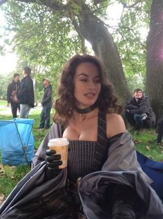 The Musketeers - via Maimie McCoy's Twitter, BtS filming of series I