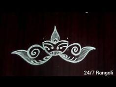 Deepam rangoli designs with 3 dots |24/7 Rangoli |diya muggulu #rangolidesigns #kolamdesigns #muggul - YouTube