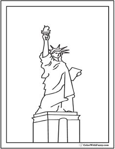 fourth of july coloring pages print and customize statue of libertycoloring