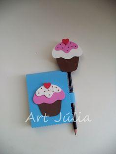 Kit bloquinho de anotações cupcake