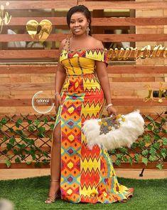 congratulations to Reynolds❤Thelma beautiful couple . Kente dress Second dress Photos Videography… African Fashion Ankara, Latest African Fashion Dresses, African Dresses For Women, African Print Dresses, Ghana Fashion, Women's Fashion, African Wedding Attire, African Attire, Ankara Mode