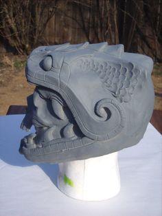 Máscara de cráneo de serpiente de resina en por RavenKingRelics