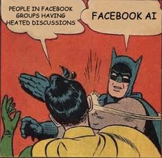 Facebook Ai Can Moderate Discussions Meme Funny Headlines, Latest News Headlines, Funny Memes, Hilarious, Jokes, Funny Videos, Batman Slapping Robin, Giant Stitch, Chistes