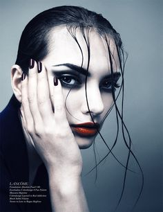 Soprano takes drama to a whole new level with full red lips, winged eyeliner and the pouting beauty of model Anniken. Shot by Desiree Mattsson, this. Schon Magazine, Dark Places, Winged Eyeliner, Model Photographers, Gothic Beauty, Beauty Make Up, Makeup Trends, Makeup Art, Female Characters