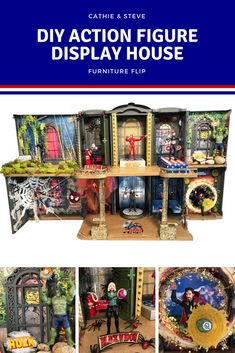 Cathie & Steve's Furniture Flip this month is to make an Action Figure Display House by transforming a Barbie house with Mod Podge and FolkArt Paints. For this Display House, we are featuring the Marvel Avengers from Infinity War.