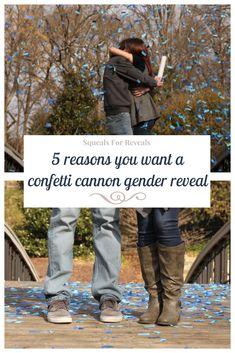 5 Reasons You Want a Confetti Cannon Gender Reveal Confetti Cannon Gender Reveal, Gender Reveal Balloons, Fall Gender Reveal, Gender Party, How To Plan, Awesome, Ideas, Babies, Creative