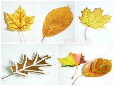 malowanie liści - zabawa plastyczna dla dzieci