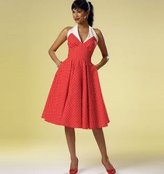 Butterick 6049 Misses' Dress - I love this, I absolutely love this dress.  The contrast fabric, neckline, retro look and pockets, plus it's an alterneck style. So stylish and will look good on everyone x