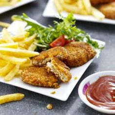 Try this tasty and healthy Mediterranean Chicken Nugget recipe in the Philips Airfryer for an after school snack.