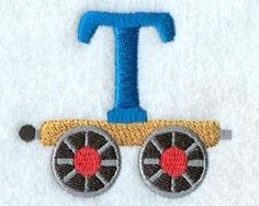 Machine Embroidery Designs at Embroidery Library! - Train Alphabet