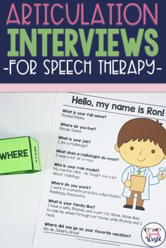 Mixed Group Solutions for speech therapy: Articulation Interviews!