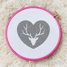 Endless-Ecostitch-Embroidery #EEE Stickdatei –  Wildherz