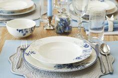 Vintage Blue yemek takımı / Vintage Blue dinnerware set #bernardo #porselen #bonechina #porcelain #vintageblue #yemektakimi #dinnerware