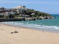 Towan Beach, Newquay, Cornwall Newquay Cornwall, St Ives Cornwall, Cornwall England, Newquay Beach, Travel Uk, Great Western, Fishing Villages, Great Britain, Beautiful Landscapes