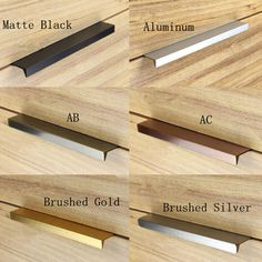 Cheap cabinet pulls, Buy Quality kitchen cabinet pulls directly from China handle kitchen Suppliers: Modern simple cabinet door edge handle wardrobe drawer matte black/brushed gold hidden furniture handle kitchen cabinet pull Cheap Kitchen Cabinets, Cabinet Door Handles, Kitchen Cabinet Handles, Kitchen Cabinet Doors, Cabinet Drawers, Black Handles Kitchen, Door Knobs, Modern Door Handles, Cabinet Hardware